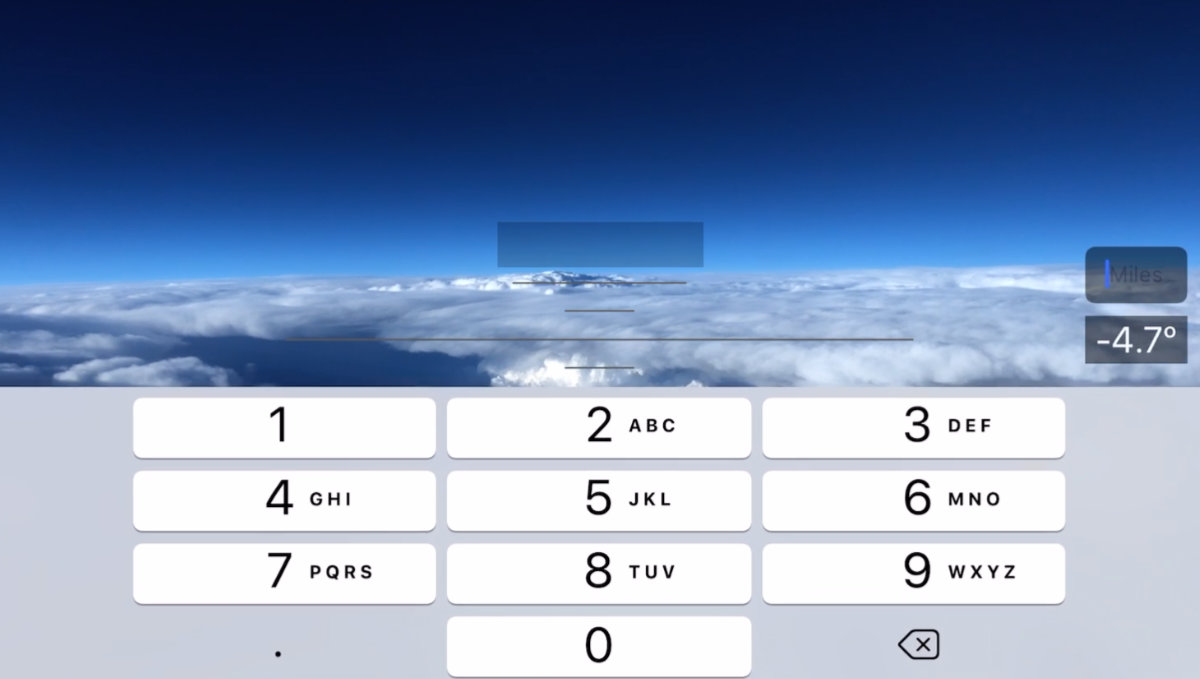 Cloud Topper Pilot Sight Level on iPhone